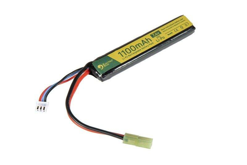 (ELR) Li-Po 1100mAh 7.4V 20C Battery - Tamiya Mini